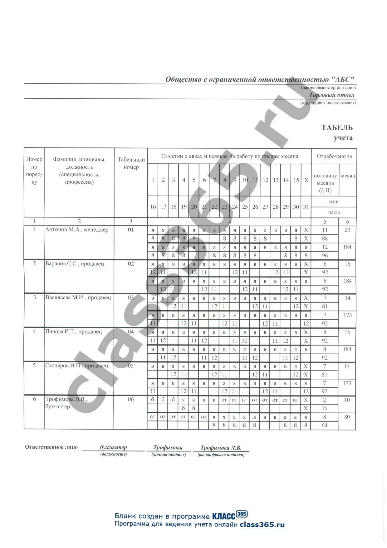 образец заполнения форма 12в