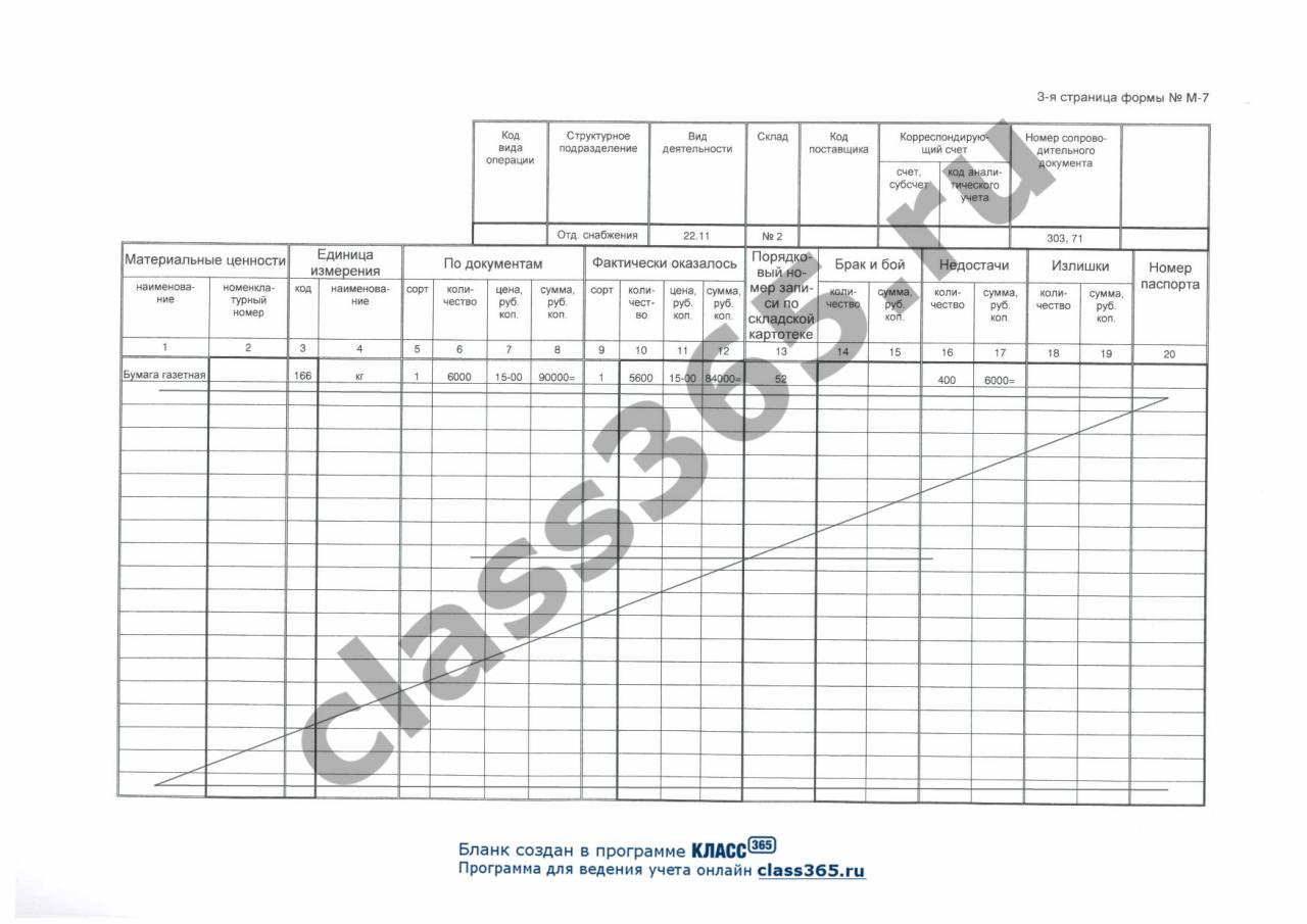 Инструкция по приемке материалов