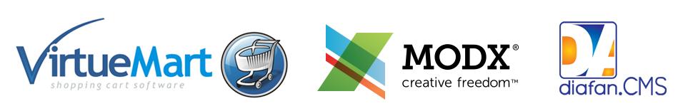 Интеграция с интернет-магазинами на платформах Joomla (VirtueMart), MODX Revolution, DiafanCMS